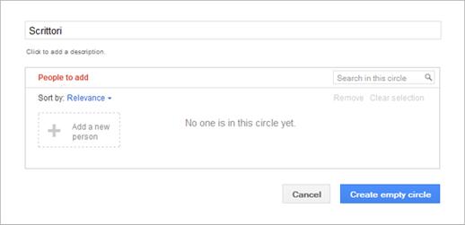 Cerchie Google+