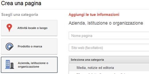 Pagina Google+