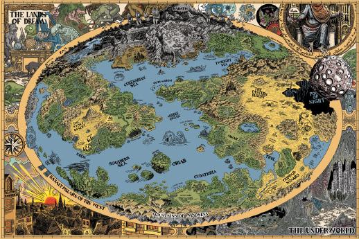 Mappa del mondo di Lovecraft