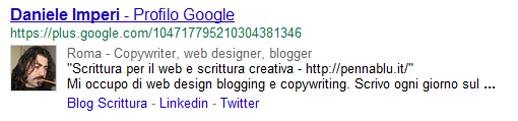 Profilo Google+