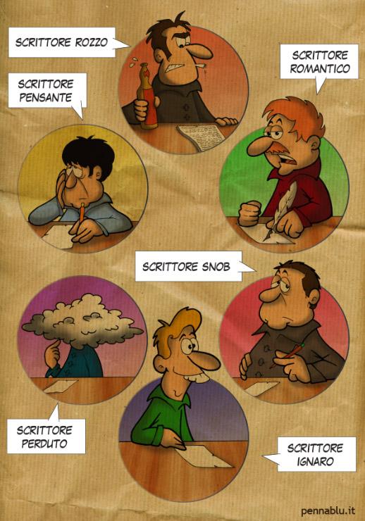 Tipologie di scrittori – Infocartoon