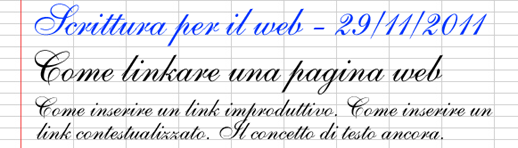 Come linkare una pagina web