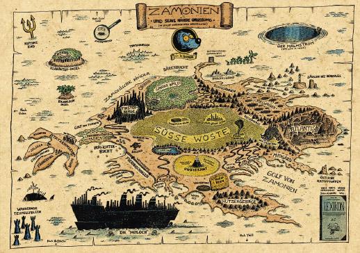 Mappa di Zamonia