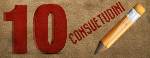 10 consuetudini nella scrittura