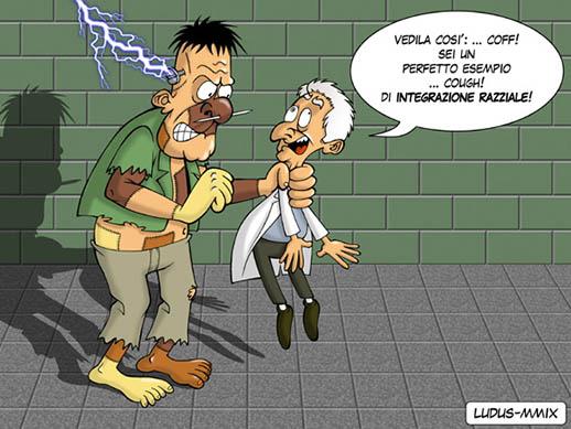 Vignetta su Frankenstein