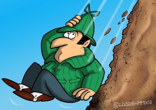 Sherlock Holmes cade nella cascata