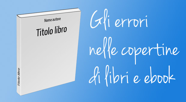 Errori nella copertina del libro