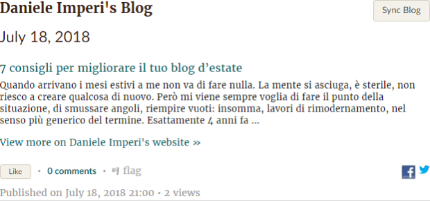 Blog su Goodreads