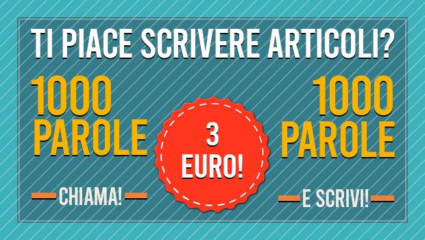 Articoli di 1000 parole a 3 euro